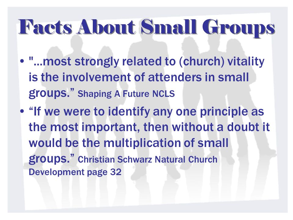 Facts About Small Groups