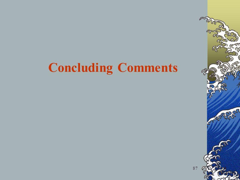 87 Concluding Comments