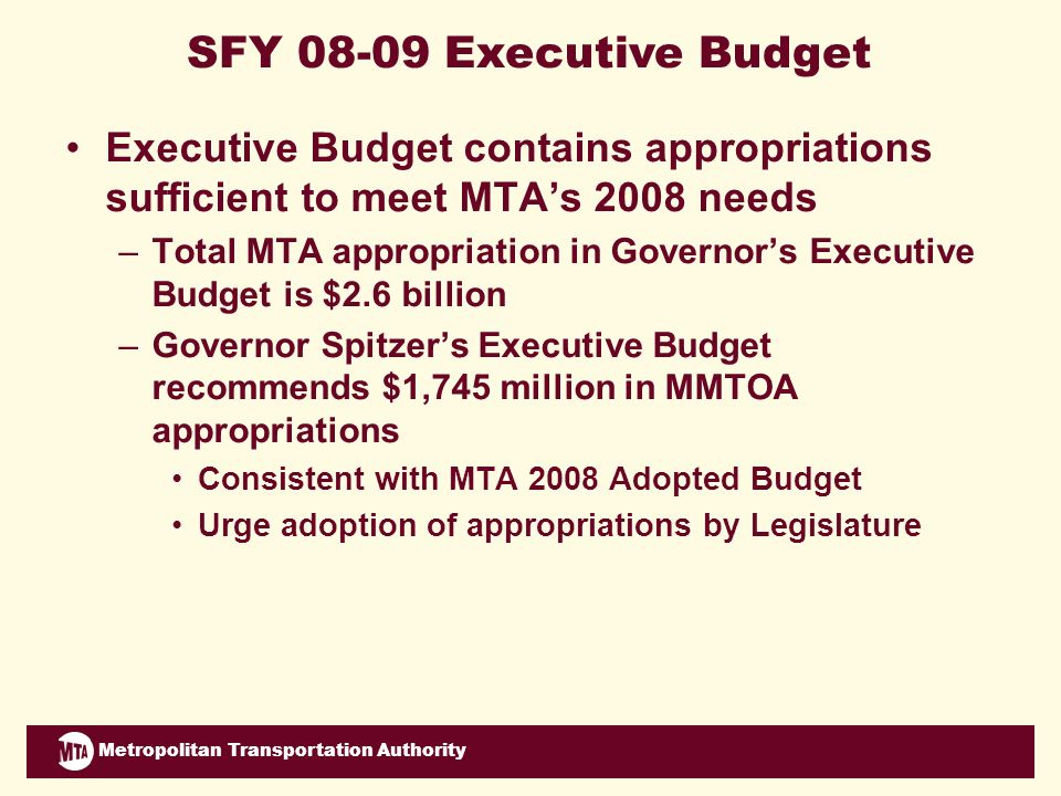 Metropolitan Transportation Authority Strategic Priority: Projects and Planning