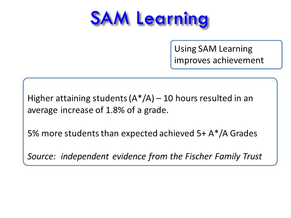 Higher attaining students (A*/A) – 10 hours resulted in an average increase of 1.8% of a grade.