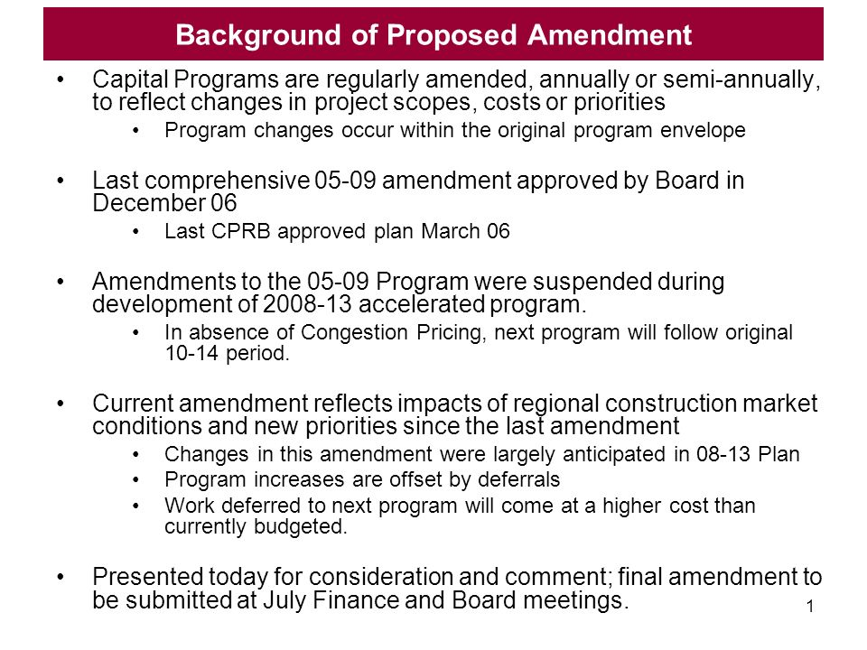 June 2008 MTA Proposed 2005-2009 Capital Program Amendment