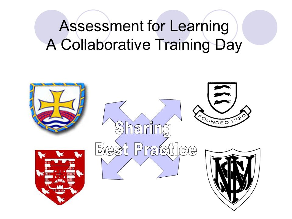Assessment for Learning A Collaborative Training Day