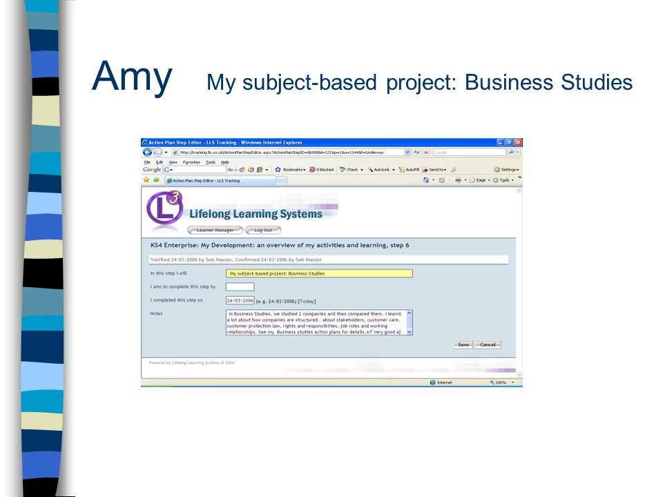 Amy My subject-based project: Business Studies