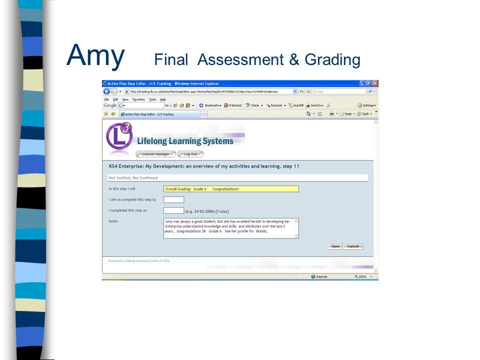 Amy Final Assessment & Grading