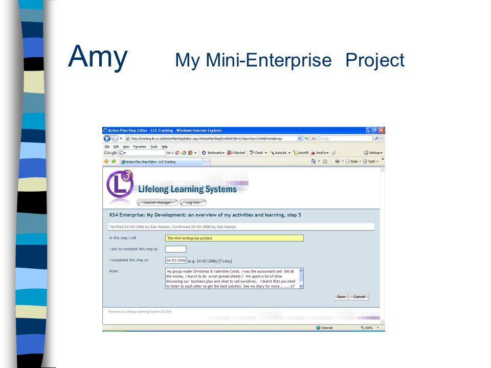 Amy My Mini-Enterprise Project