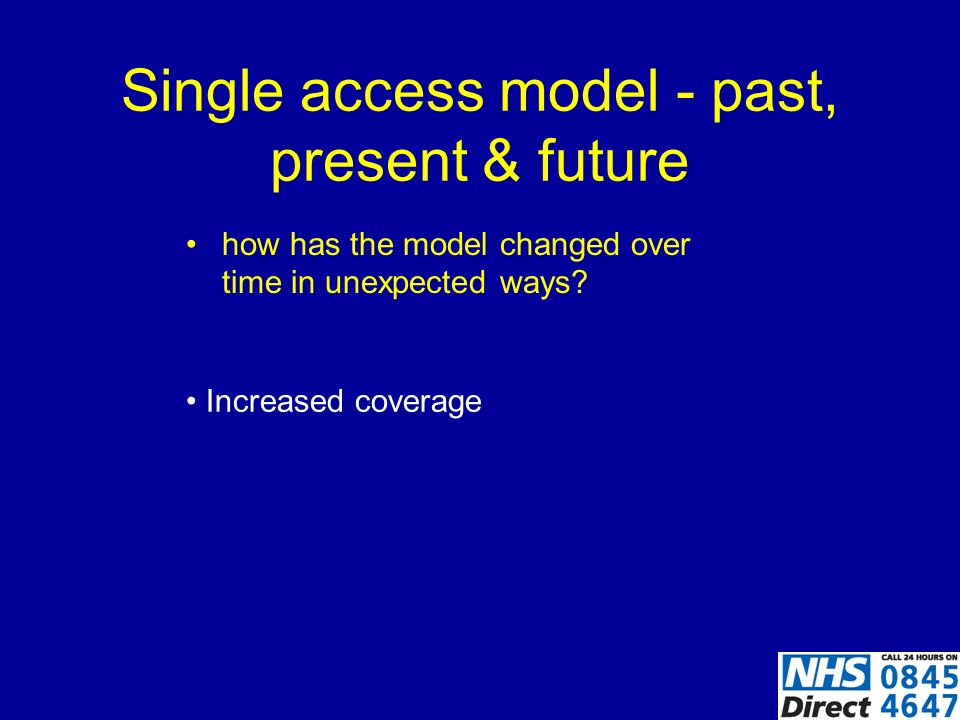 Single access model - past, present & future how has the model changed over time in unexpected ways.