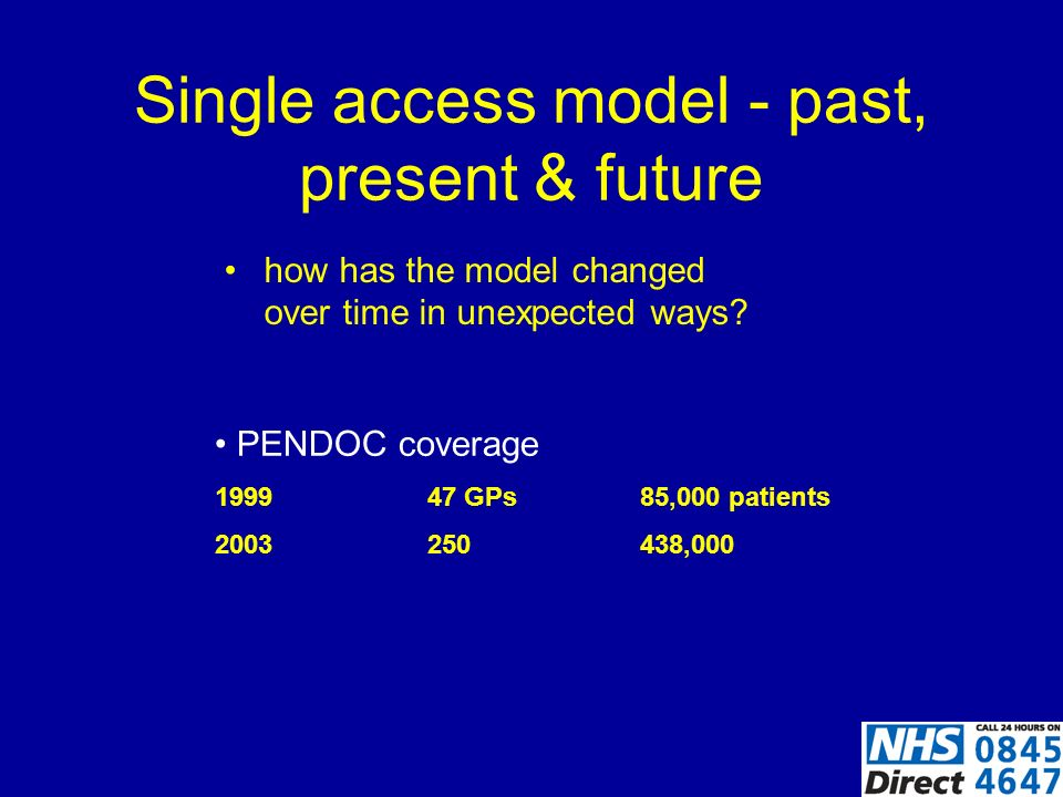 Single access model - past, present & future How did we overcome professional boundaries and traditional roles.