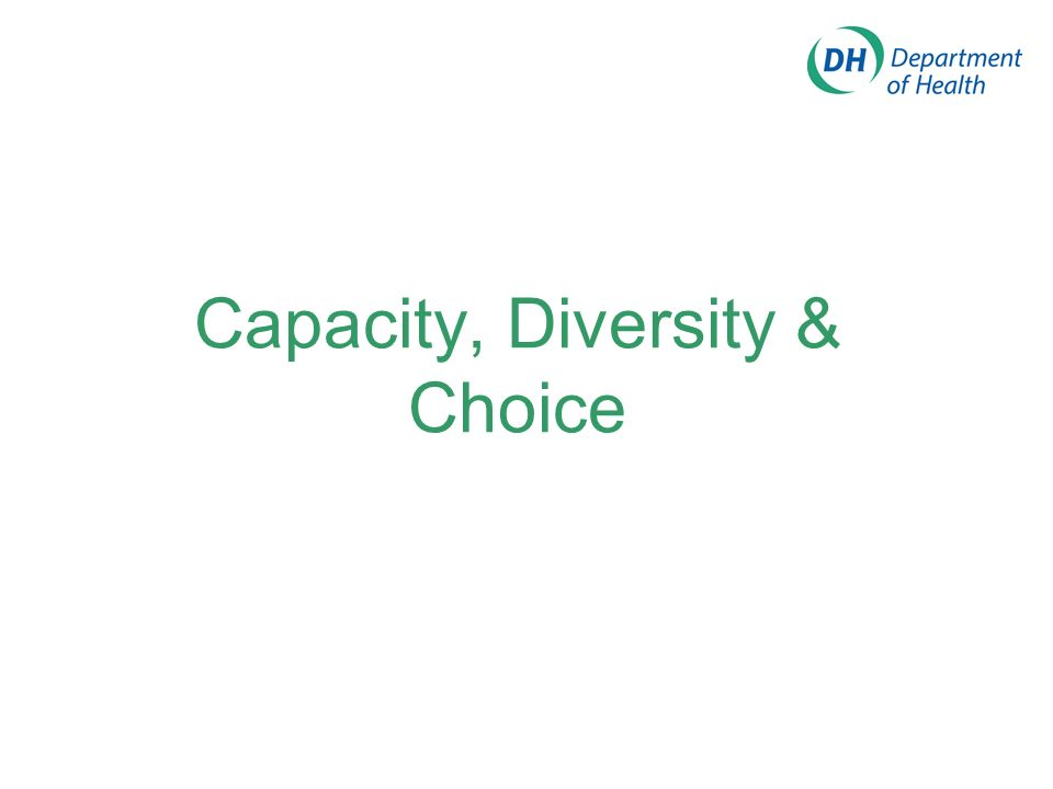 Capacity, Diversity & Choice