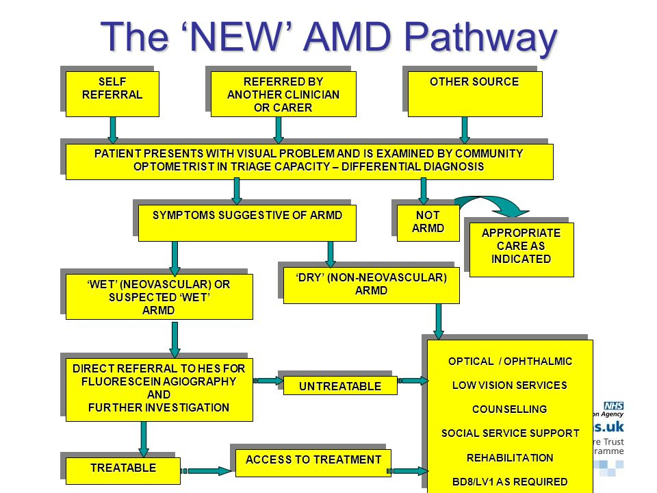 Need to Manage AMD Differently Improve collaboration / communication between healthcare and social service providers Ensure timely diagnosis and ease of access to treatments / social services for patients with AMD