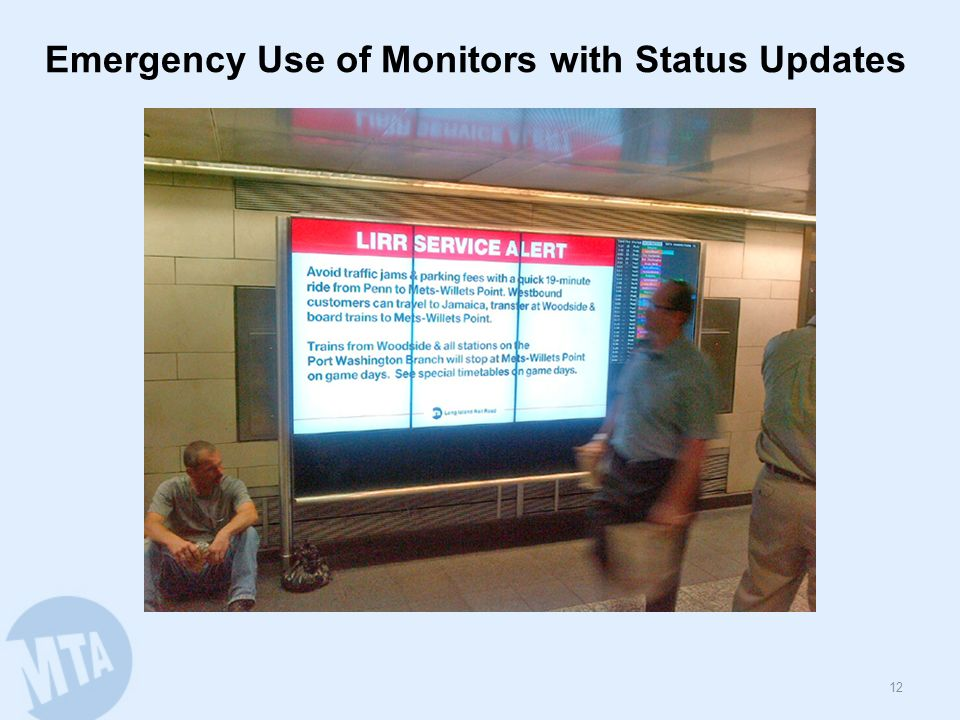 Emergency Use of Monitors with Status Updates 12