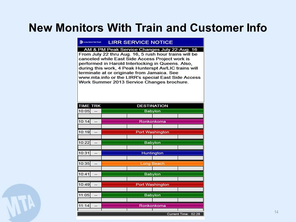 New Monitors With Train and Customer Info 14