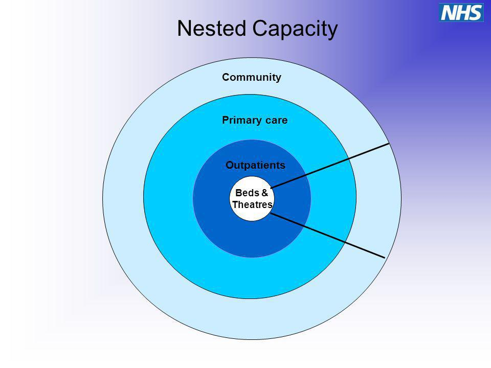 Beds & Theatres Outpatients Primary care Community Nested Capacity