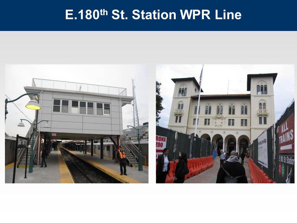E.180 th St. Station WPR Line