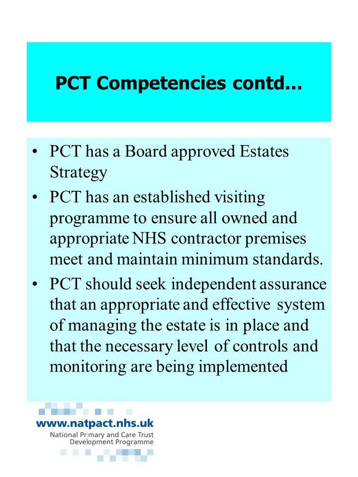 PCT Competencies contd...