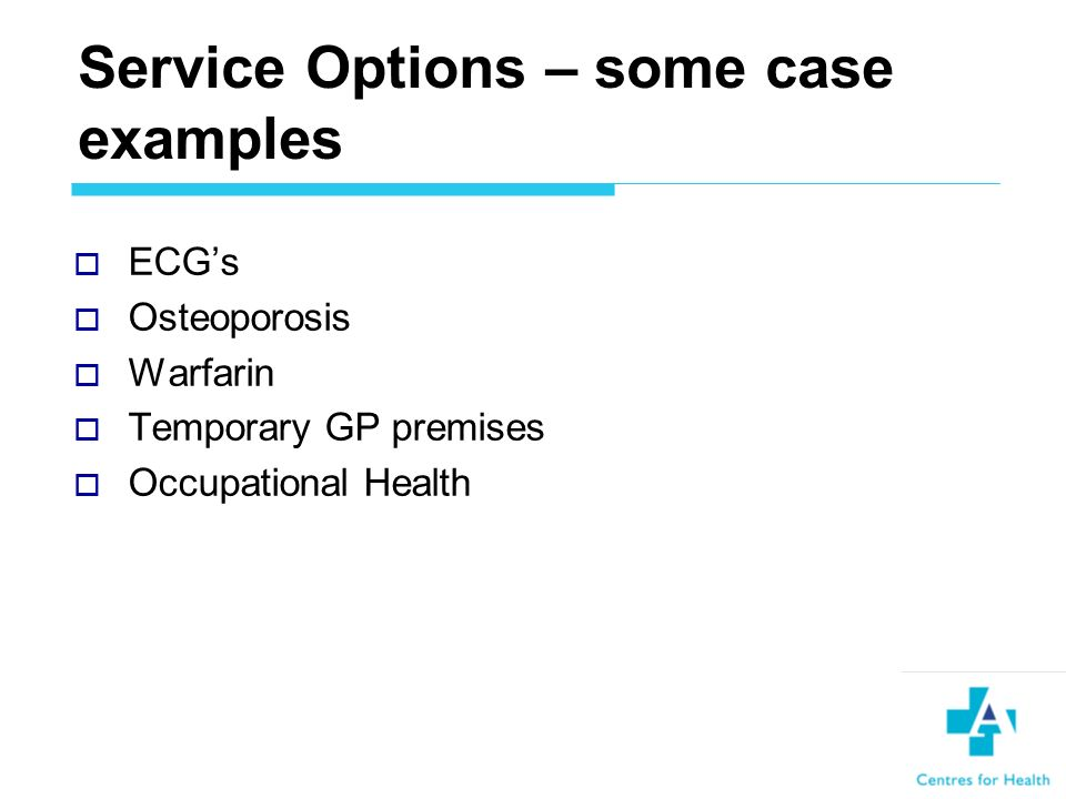 Service Priorities Waiting list pressures Secondary care in community settings Integrated health and social care Local implementation of NSFs Health promotion and preventative programmes Education and Training