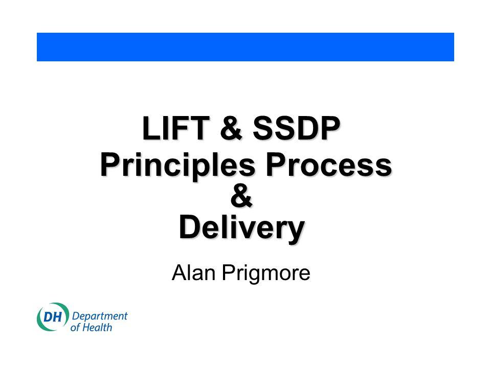 LIFT & SSDP Principles Process Principles Process&Delivery Alan Prigmore