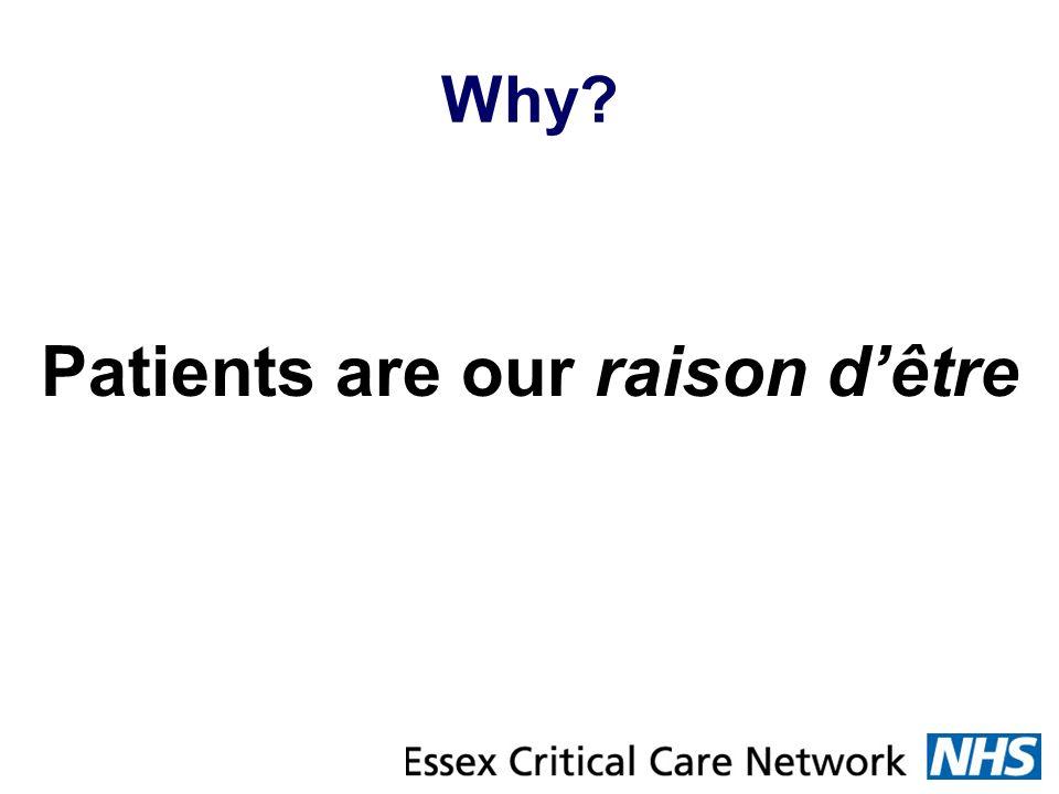 Why? Patients are our raison dêtre