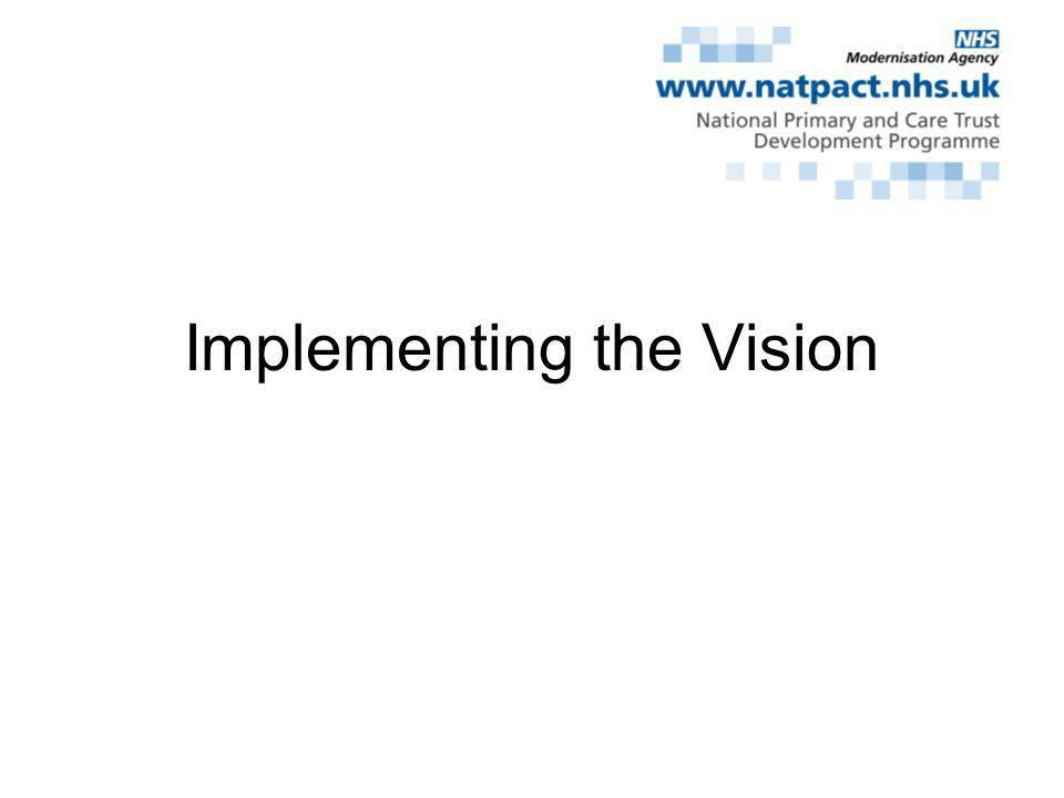 Implementing the Vision