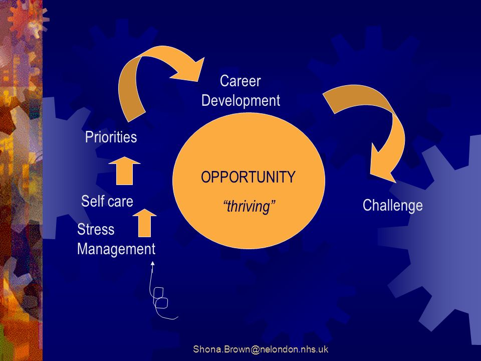 OPPORTUNITY thriving Stress Management Self care Priorities Career Development Challenge