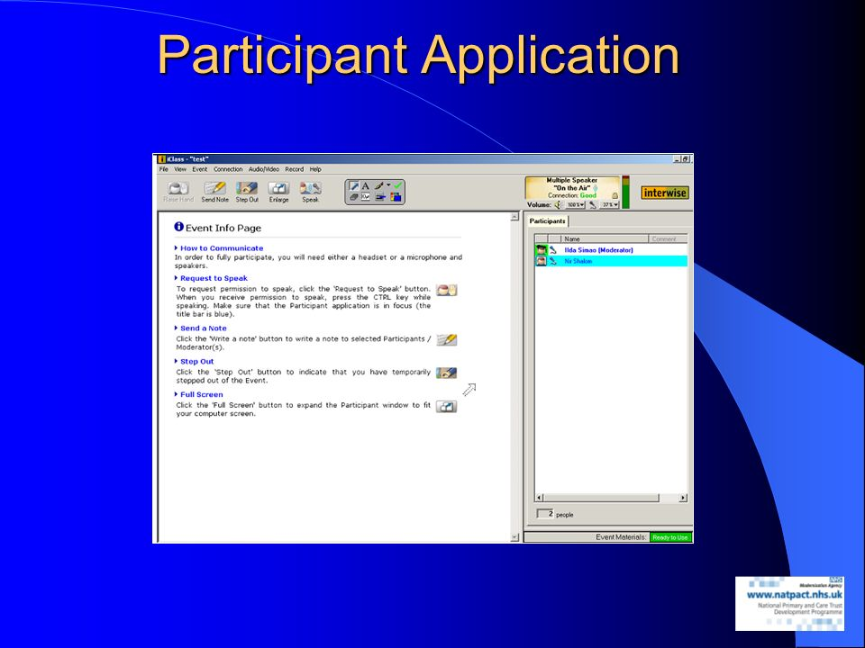 Participant Application