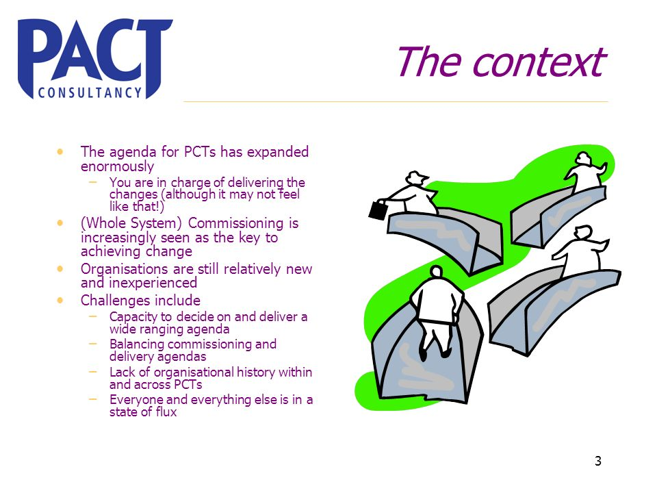 3 The context The agenda for PCTs has expanded enormously – You are in charge of delivering the changes (although it may not feel like that!) (Whole S