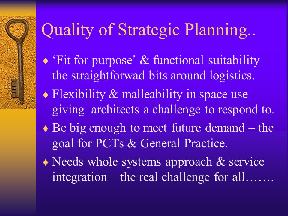 Quality of Strategic Planning..