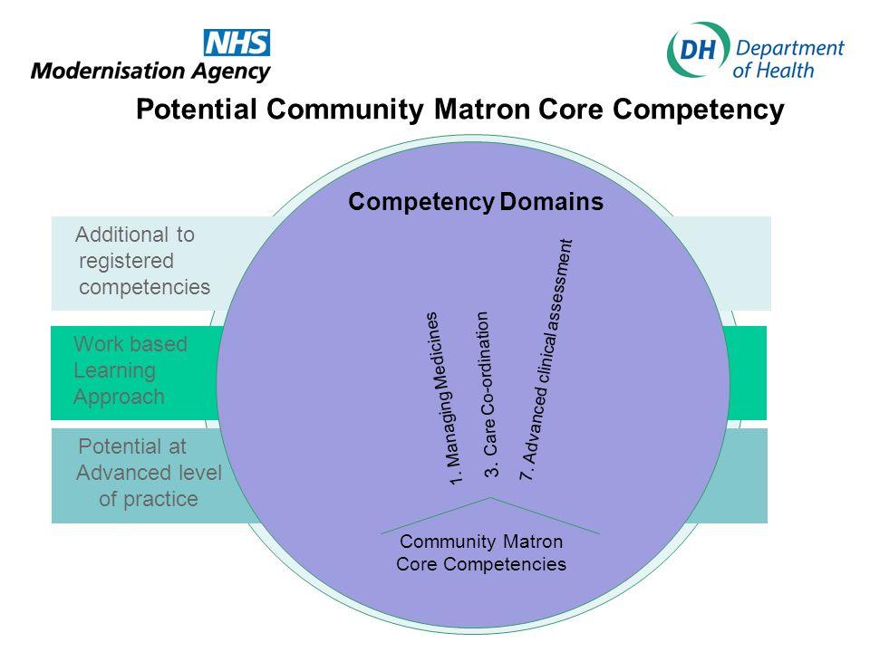 Competency Domains Community Matron Core Competencies 3.