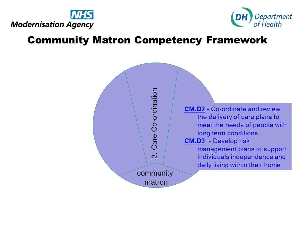 Community Matron Competency Framework community matron 3.
