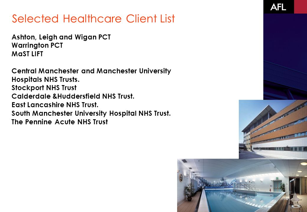 Ashton, Leigh and Wigan PCT Warrington PCT MaST LIFT Central Manchester and Manchester University Hospitals NHS Trusts.