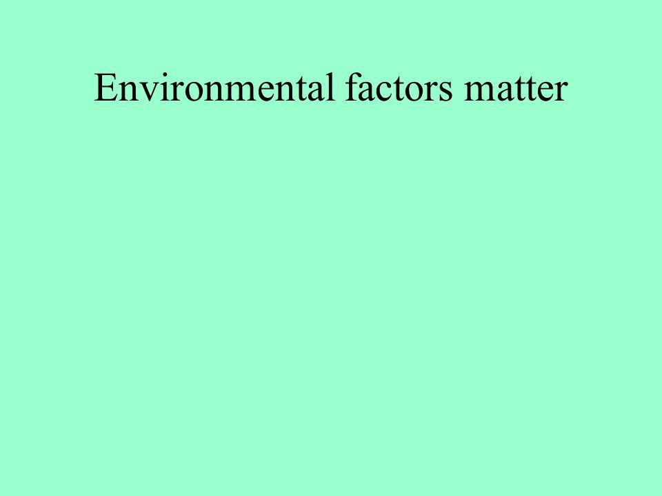 Environmental factors matter