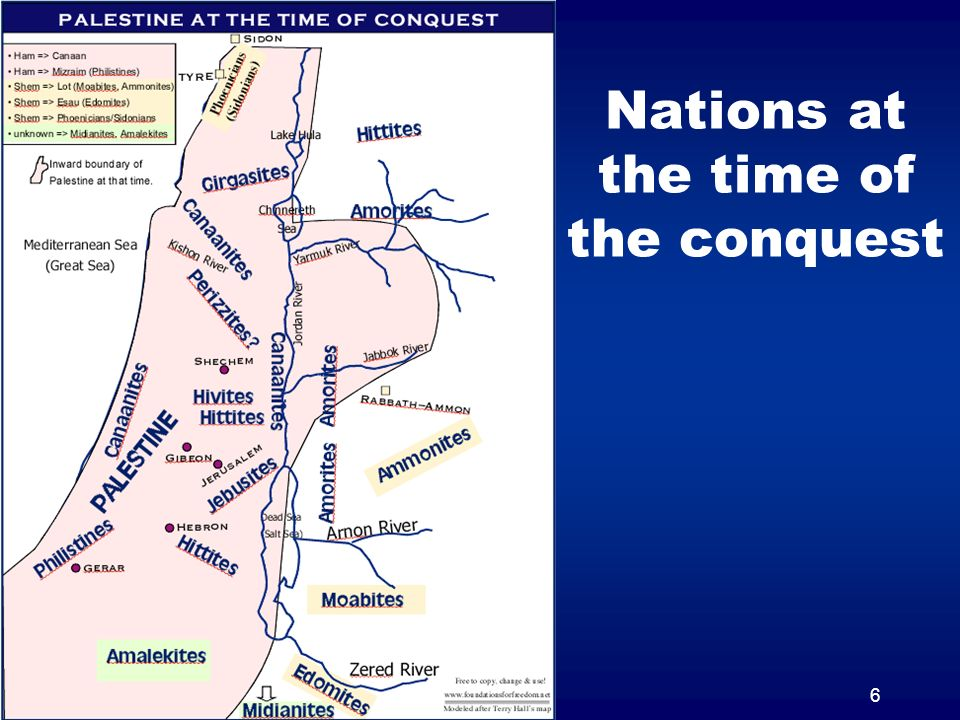 6 Nations at the time of the conquest
