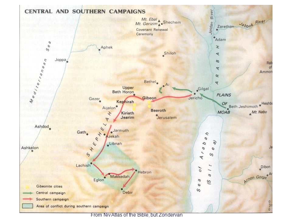 7 Central and Southern Campaigns From Niv Atlas of the Bible, but Zondervan