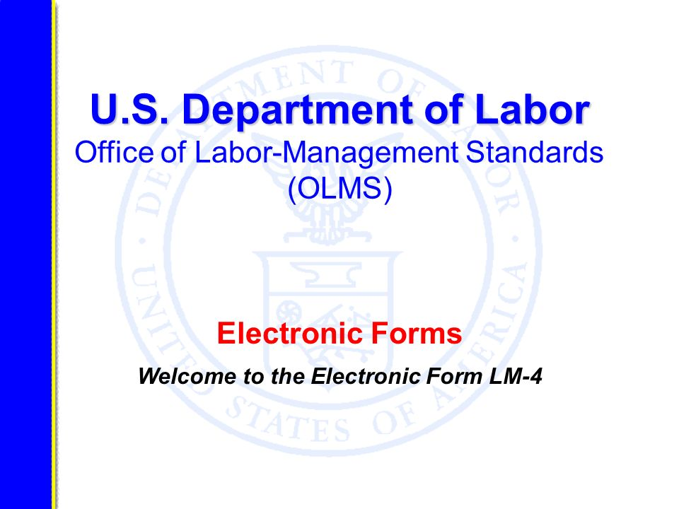 LM-4 Identification Items Item 1 - File Number: enter your unions six- digit File Number.