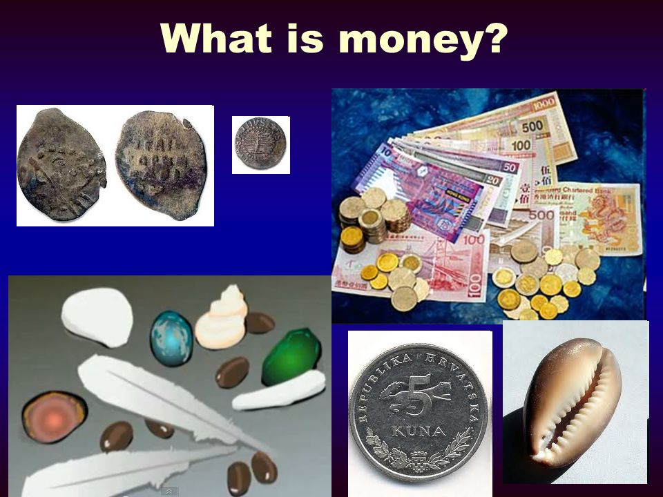Features of Money A medium of exchange A unit of account A store of value