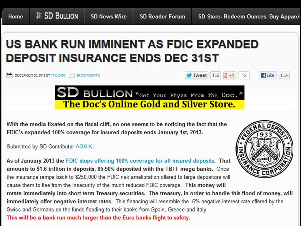 US Bank Run Imminent