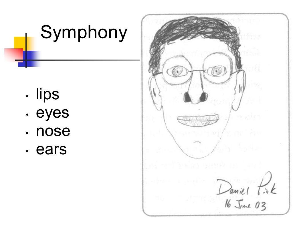 Symphony lips eyes nose ears