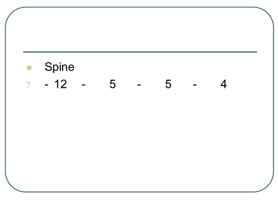 Spine 7 -12-5-5-4