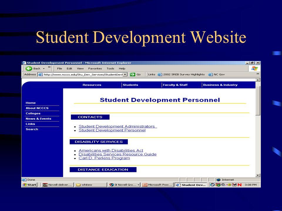 Student Development Website