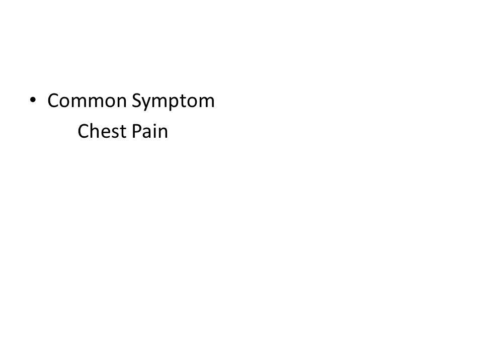 Common Symptom Chest Pain