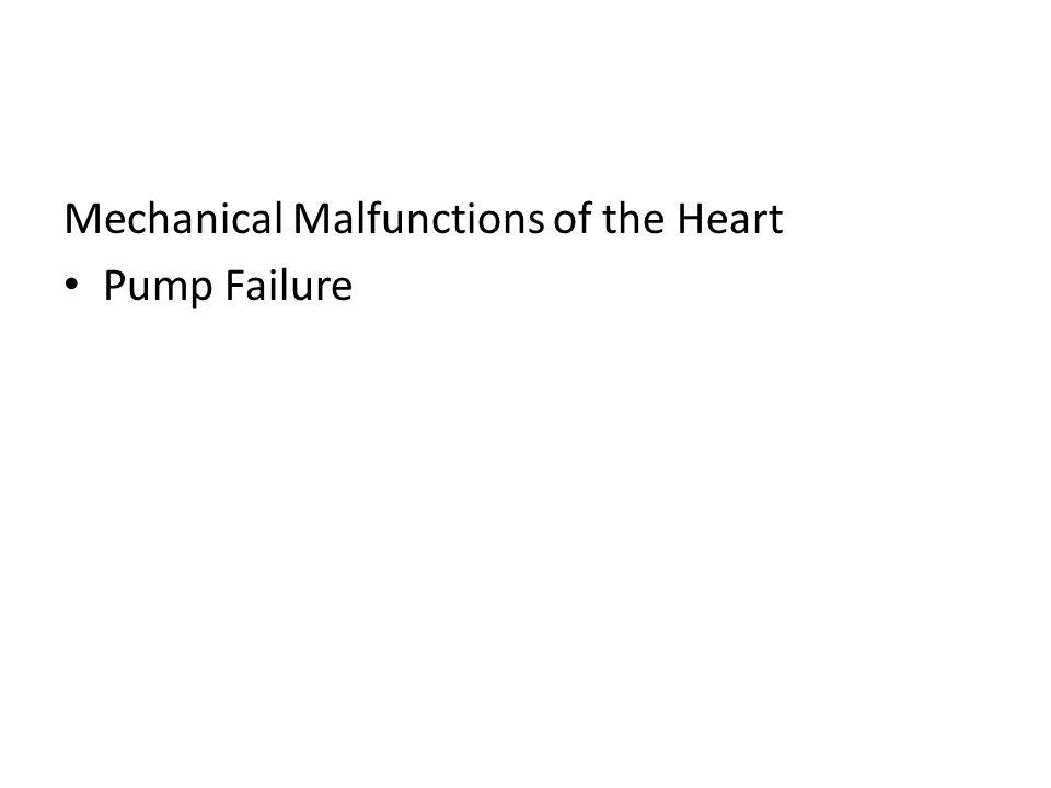 Mechanical Malfunctions of the Heart Pump Failure