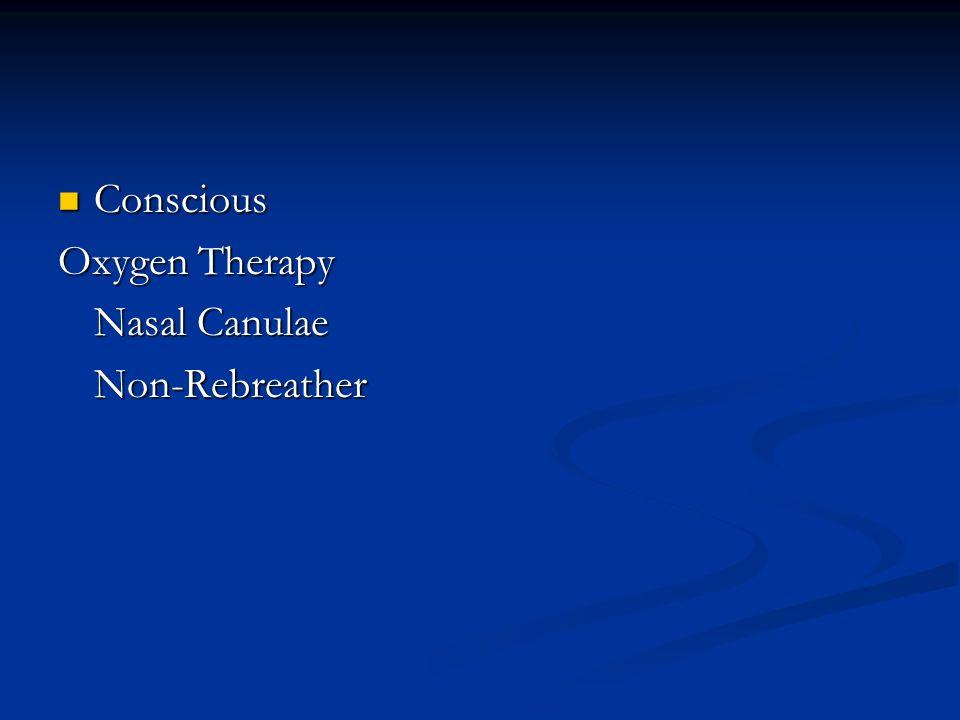 Conscious Conscious Oxygen Therapy Nasal Canulae Non-Rebreather