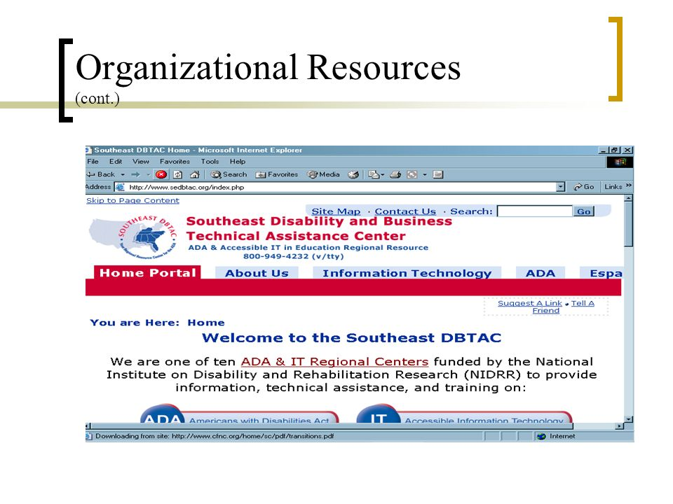 Organizational Resources (cont.)