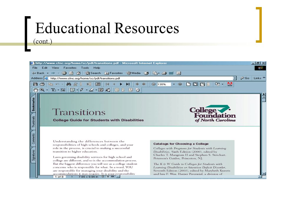 Educational Resources (cont.)