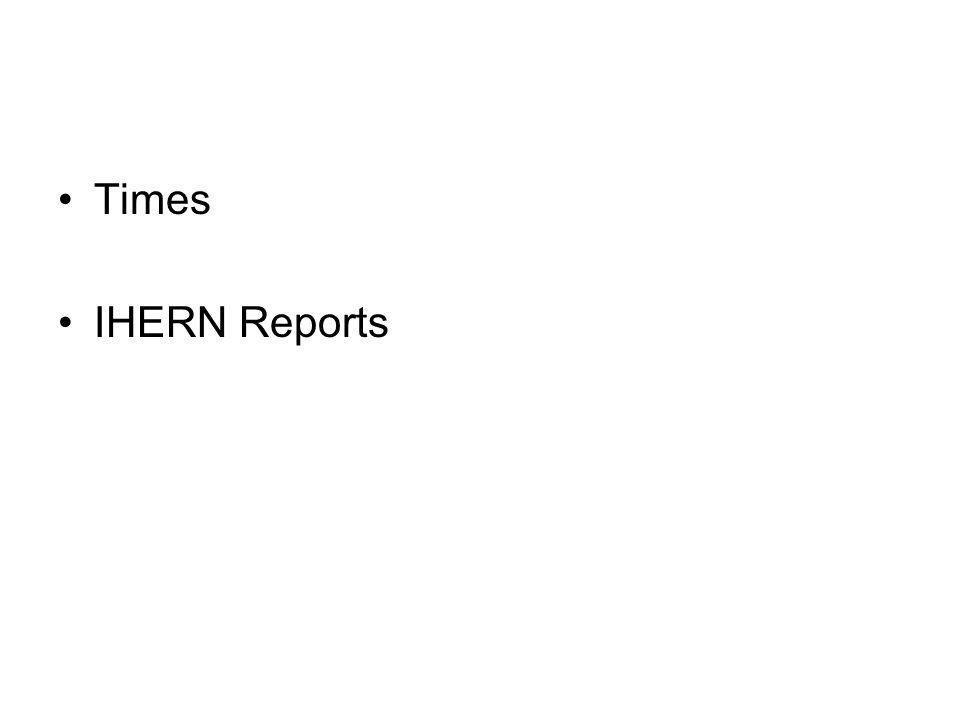 Times IHERN Reports