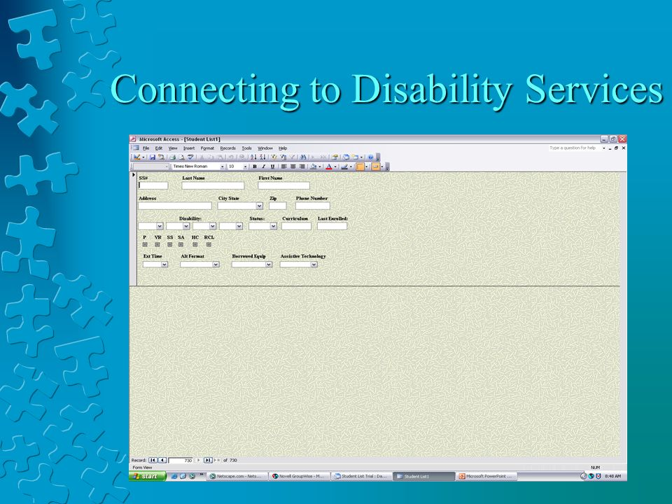 Connecting to Disability Services
