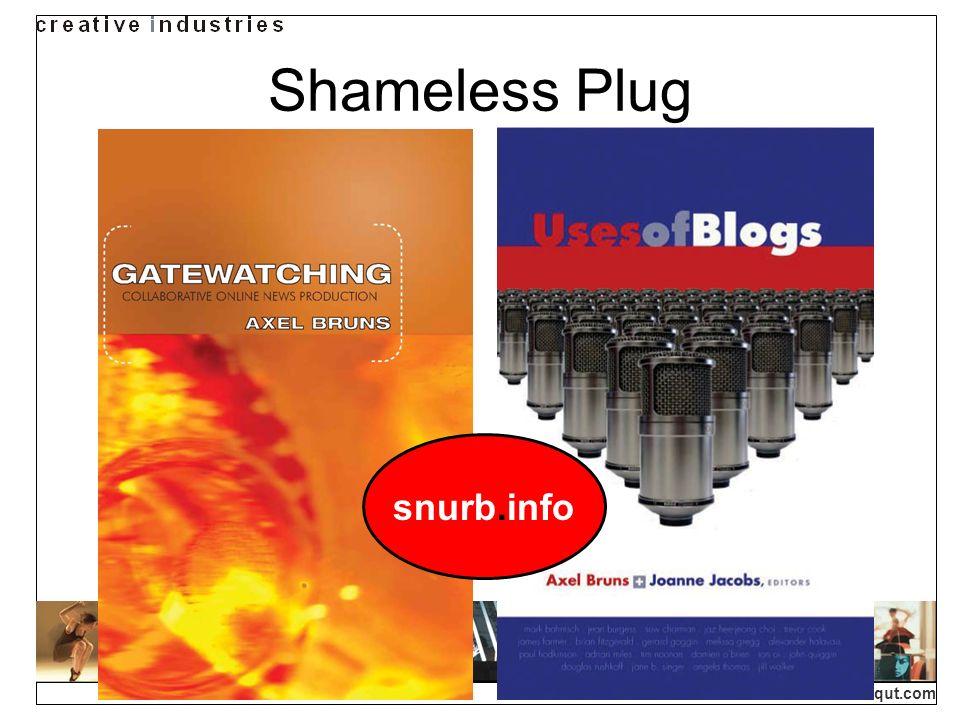 creativeindustries.qut.com Shameless Plug snurb.info
