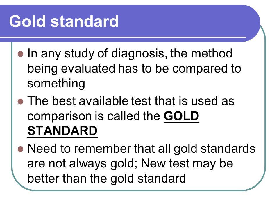 Test parameters Sensitivity = Pr(T+|D+) = a/(a+c) --Sensitivity is PID (Positive In Disease) Specificity = Pr(T-|D-) = d/(b+d) --Specificity is NIH (Negative In Health) Disease Status Present (D+) Absent (D-) Total Diagnostic Test Positive (T+) aba+b Negative (T-) cdc+d Totala+cb+dN Gold Standard