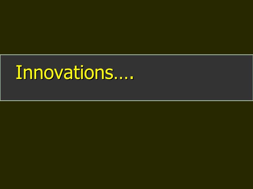 Innovations….
