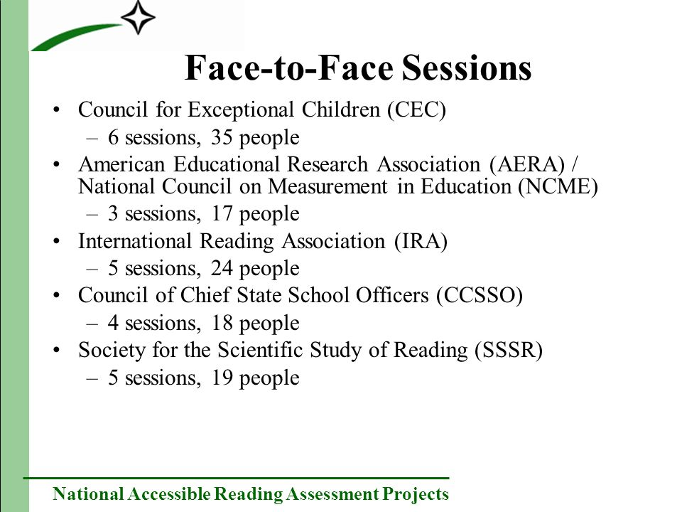 National Accessible Reading Assessment Projects Understanding and decoding for disabled students Participants noted a clear relationship between decoding and understanding for non-disabled students.
