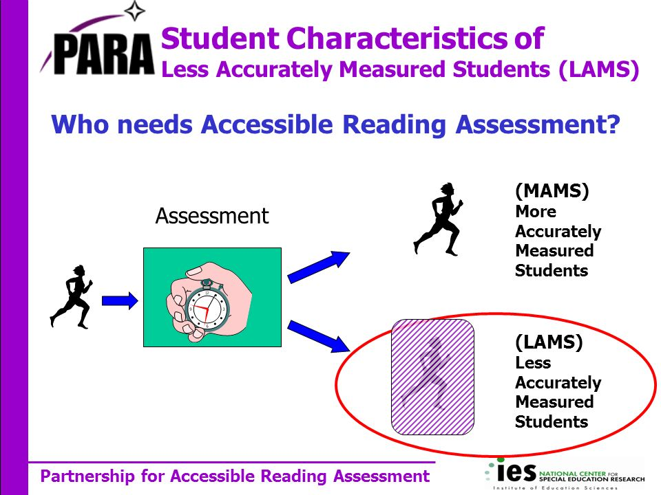 Partnership for Accessible Reading Assessment Who needs Accessible Reading Assessment.